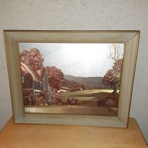 Vintage foil lithograph signed by Artist